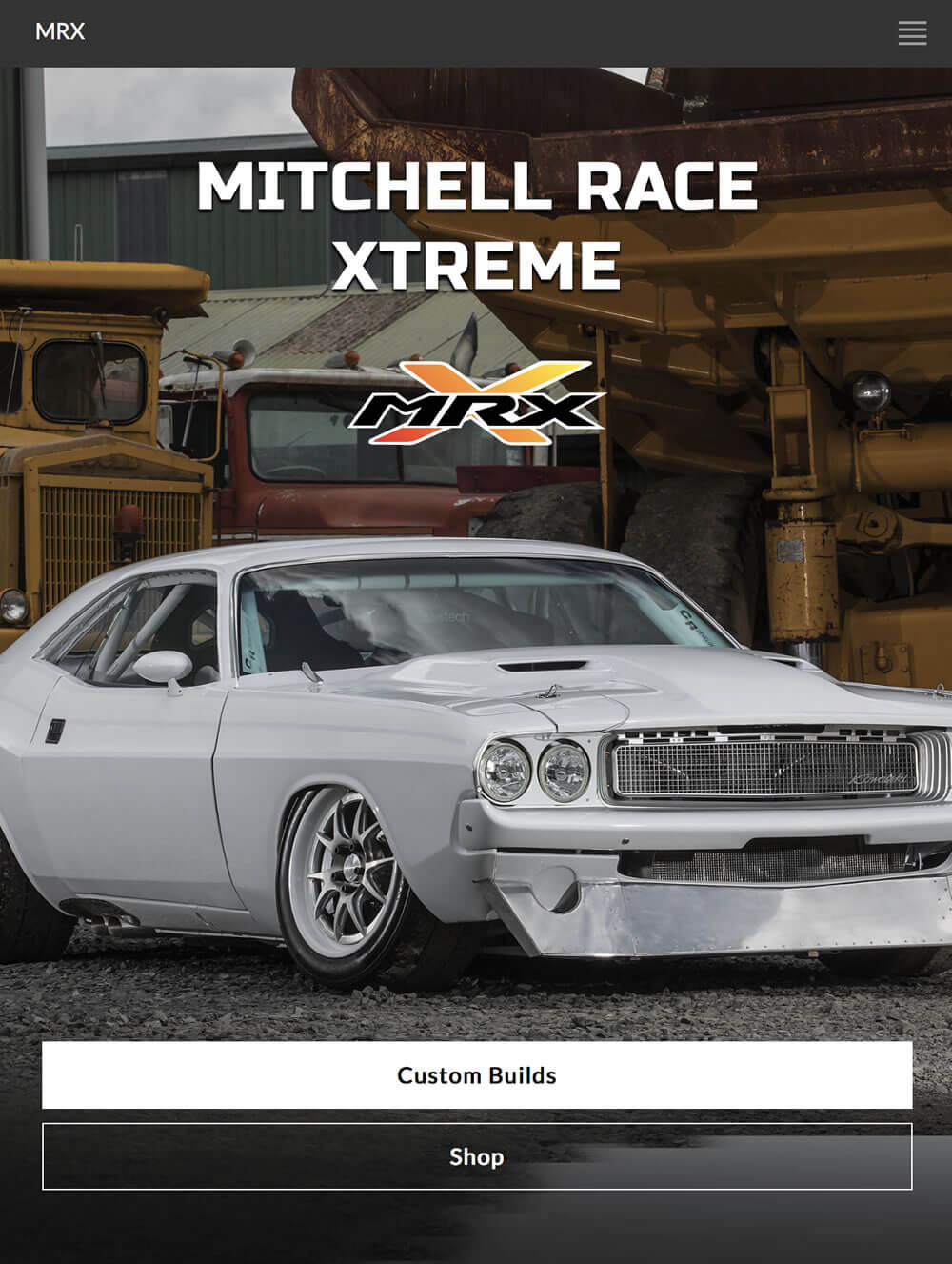 Mitchell Race Xtreme website by Piccante Web Design
